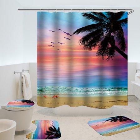 Shower Curtain Mat Sets