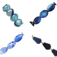 Natural Blue Agate fuqi jewelry