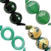 Natural Green Agate fuqi jewelry