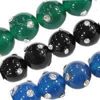 Rhinestone Agate fuqi jewelry