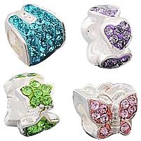 Rhinestone Sterling Silver European fuqi jewelry