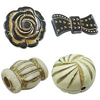 Gold Accent Acrylic fuqi jewelry