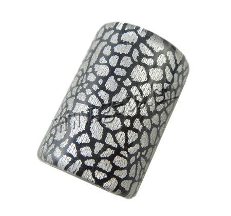 Resin Acrylic Beads Tube large hole crackle - Gets com