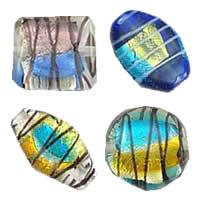 Rainbow Foil Lampwork fuqi jewelry