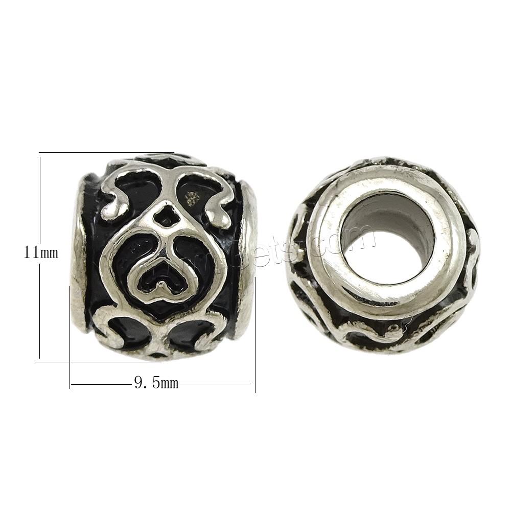 edelstahl european perlen trommel ohne troll schw rzen ca 5mm verkauft von pc. Black Bedroom Furniture Sets. Home Design Ideas