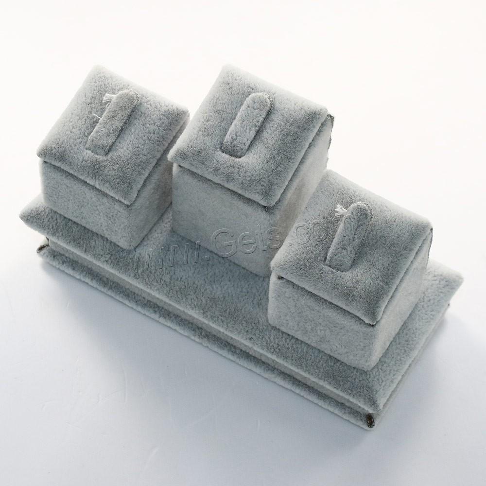 pr sentoir de bague en velours de coton avec bois gris argent vendu par pc. Black Bedroom Furniture Sets. Home Design Ideas