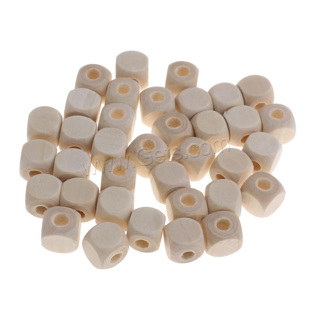 Original Beads: Original Wood Beads Cube Large Hole Original Color