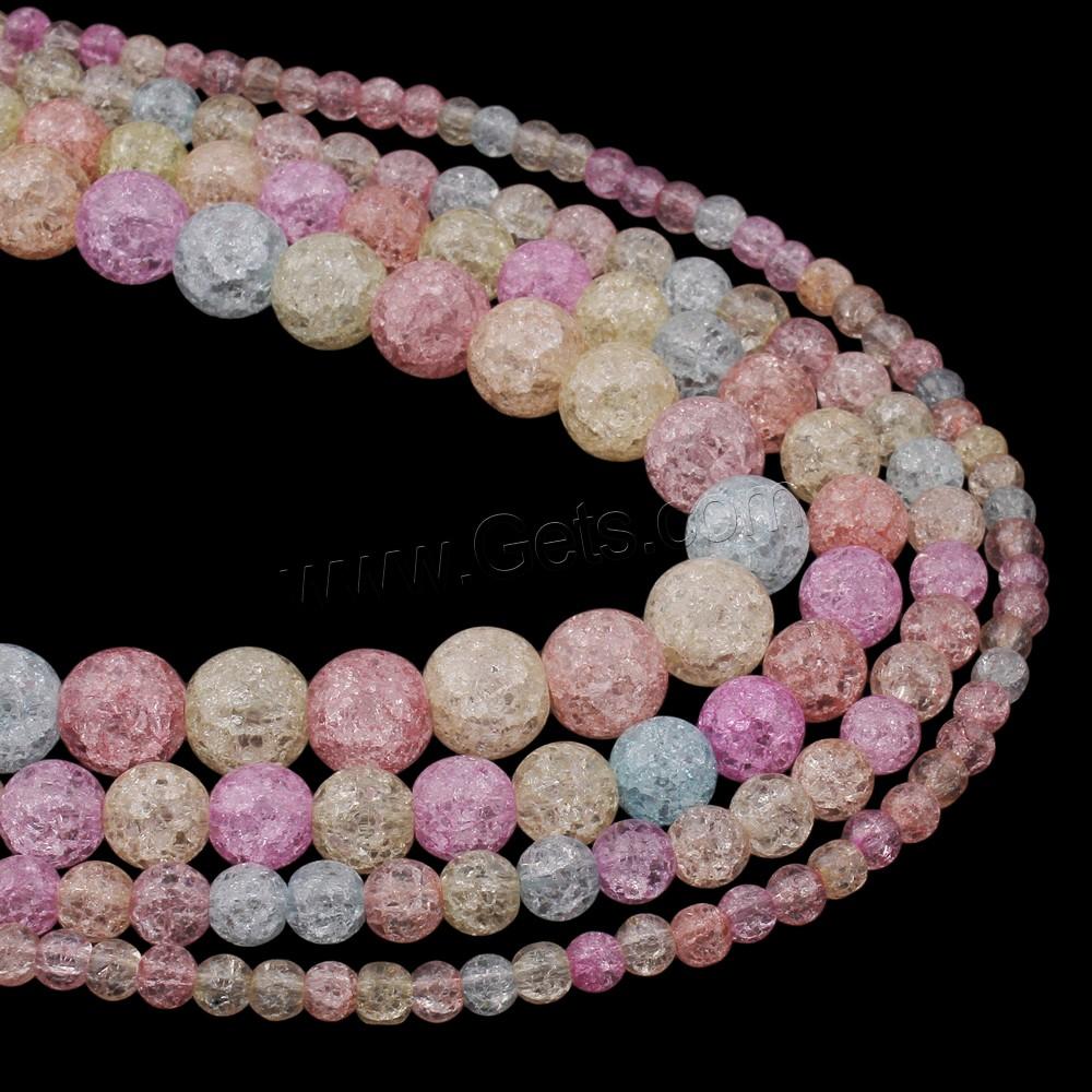 crackle quartz beads round mixed colors getscom
