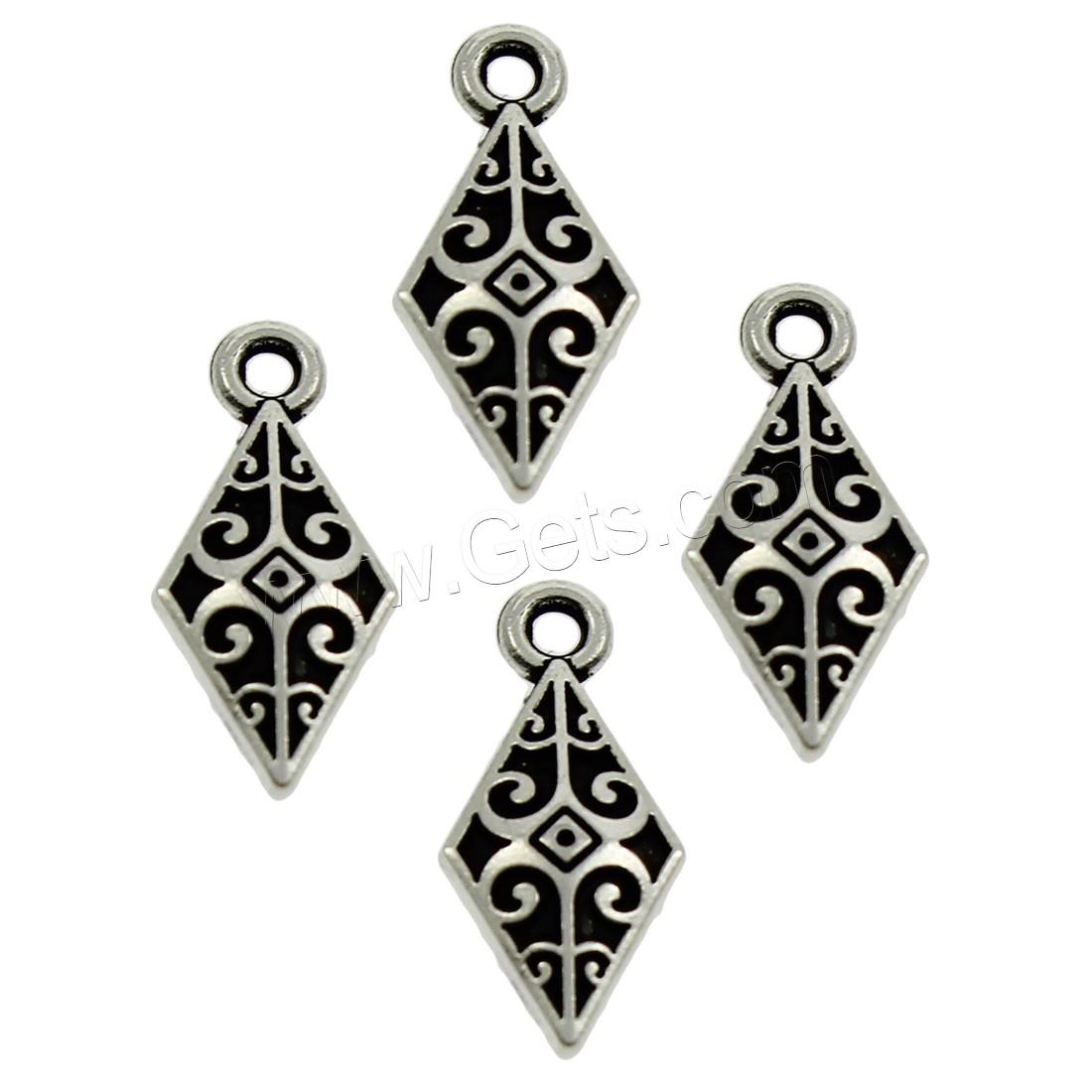 Zinc alloy jewelry pendants antique silver color plated