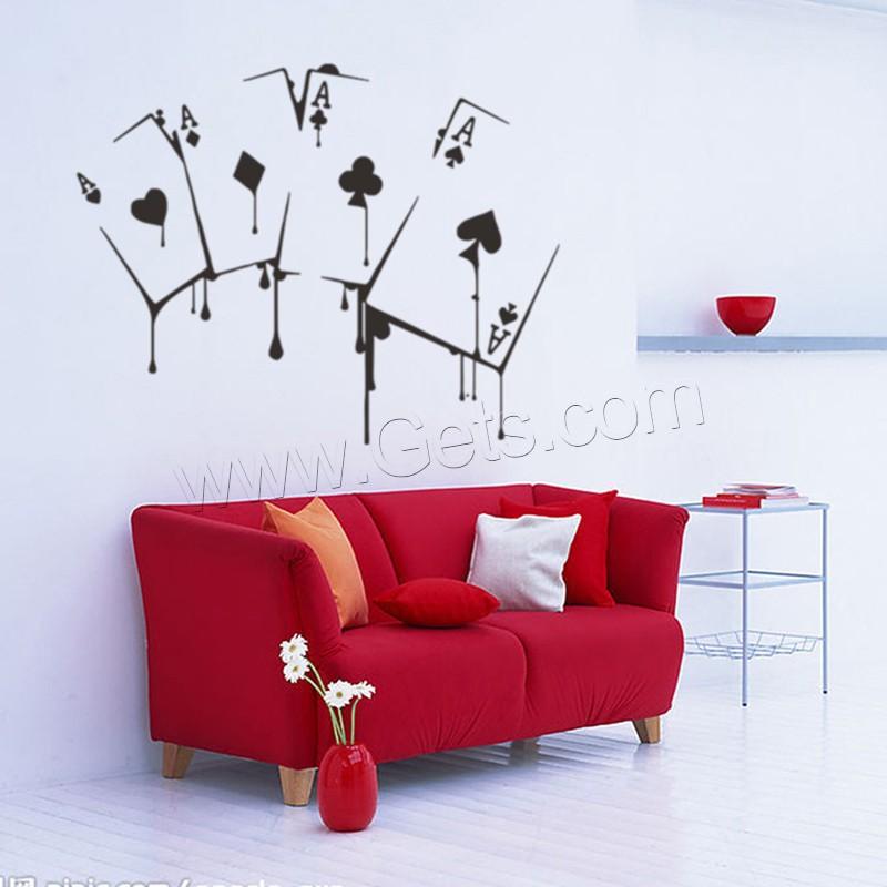 wand sticker pvc kunststoff spielkarte klebstoff wasserdicht verkauft von setzen. Black Bedroom Furniture Sets. Home Design Ideas