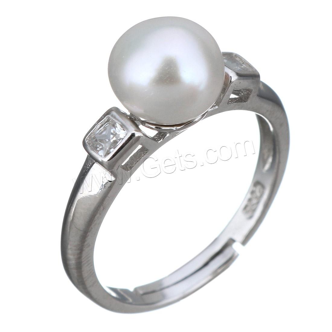 En Argent Sterling 925 Eau Douce Perle de Culture Bague