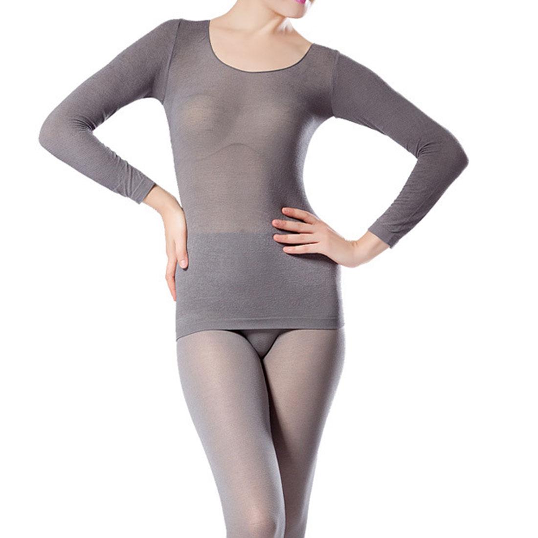 19f8ccb2881 Viscose   Nylon Women Thermal Underwear Sets flexible   thermal ...