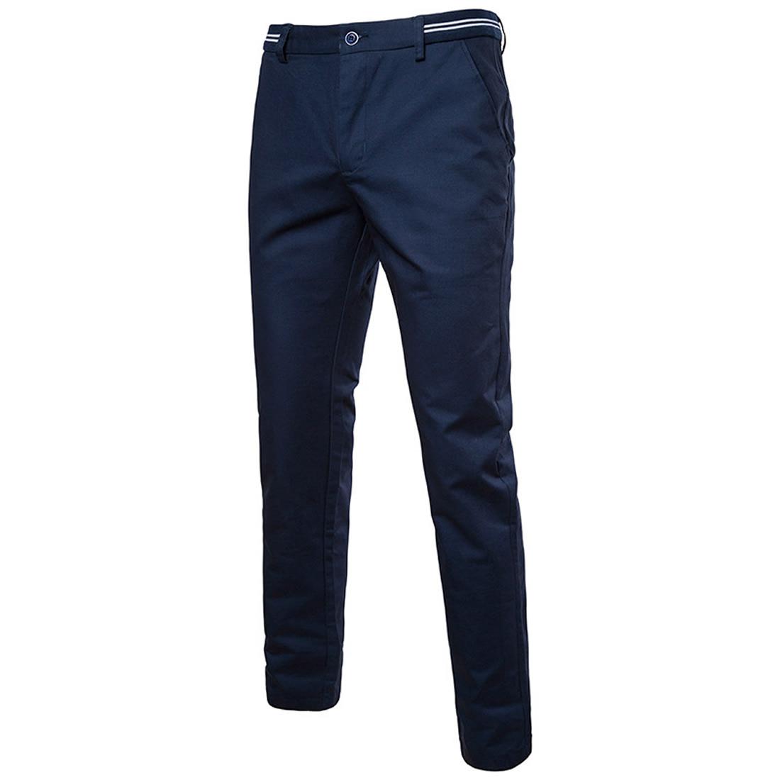 Tela Mezclada Algodon Pantalones Hombre Casual Impreso A Rayas Mas Colores Para Elegir Trozo Yym