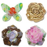 Flower Acrylic fuqi jewelry