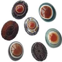 Natural Evil Eye Agate fuqi jewelry