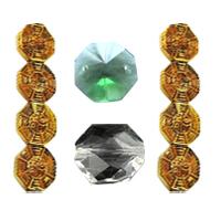 Octagon Crystal fuqi jewelry