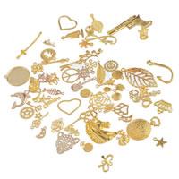 14k Oro Amarillo Cónico Colgante Collar Cadena de fianza fornituras para