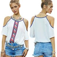 Vrouwen off schouder blouses en tops